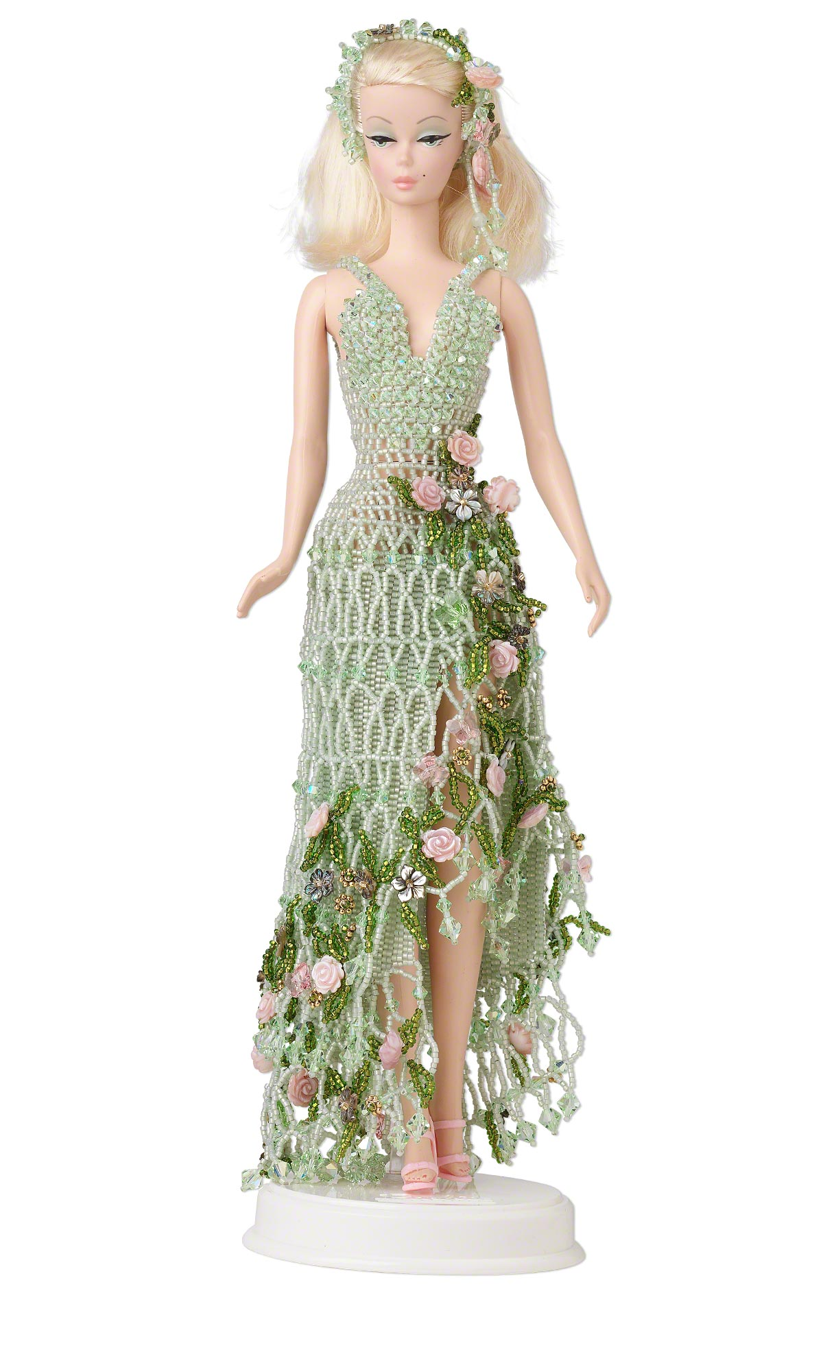 Jewelry Design Doll With Seed Beaded Dress Fire