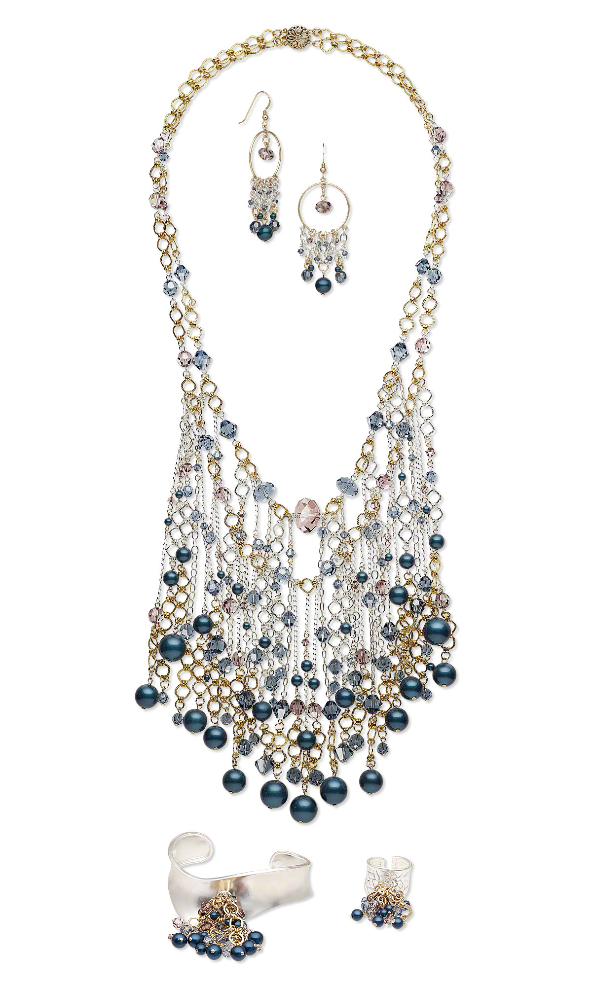 Jewelry Design Bib Style Necklace Bracelet Earring And