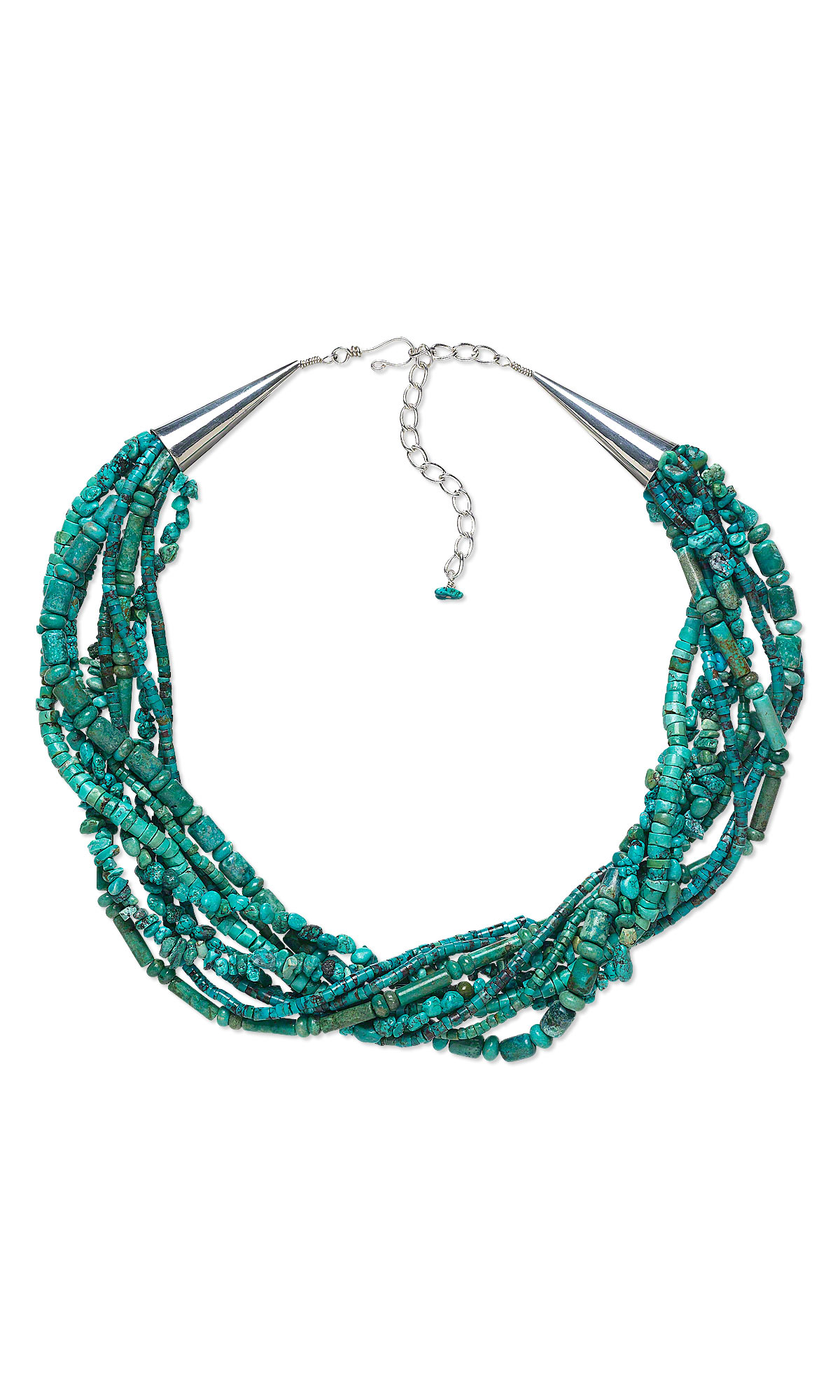Gemstone bead jewelry designs : Jewelry design multi strand necklace with turquoise