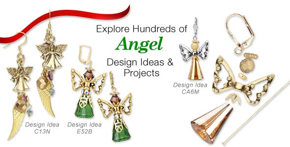 View All Christmas Angel Earrings