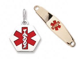 Medical Alert ID Charms, Pendants and Bracelets