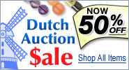 Dutch Auction Sale - Now 50% Off