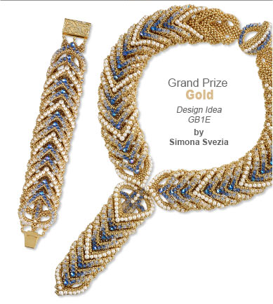Swarovski Contest Grand Prize Gold Medal Winner by Simona Svezia - Design Idea GB1E