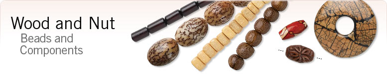 Wood and Nut Beads and Comp
