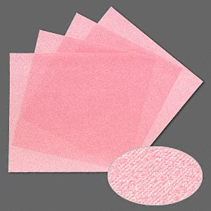 3m™ wetordry™ polishing paper, silicon carbide, pink, 4000 grit, 5x5-inch square. sold per pkg of 4.