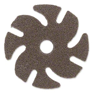 Abrasive disc, 3M™ Scotch-Brite™ EXL Unitized, plastic, brown, medium grit, 3-inch replacement disc for Jooltool™. Sold individually.