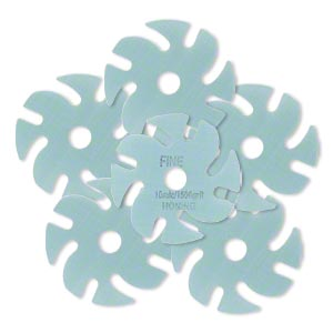 Abrasive disc, 3M™ Trizact™, plastic, blue, 1500 grit, 3-inch replacement disc for Jooltool™. Sold per pkg of 6.