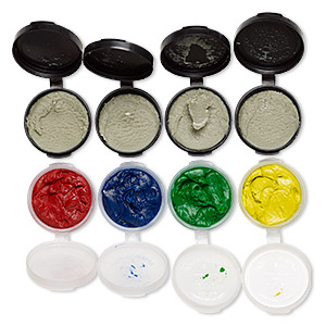 Adhesive, Apoxie® Sculpt, epoxy and polymer resin, assorted primary colors. Sold per 8-ounce pkg.