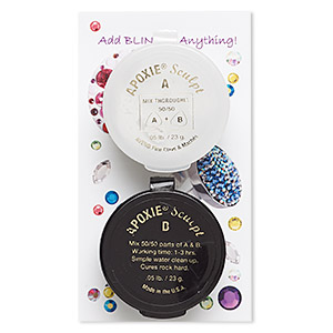 Adhesive, Apoxie® Sculpt, epoxy and polymer resin, white. Sold per 1/10 pound pkg.
