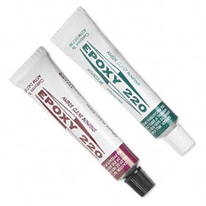 Adhesive, Epoxy 220, light amber, 2-part epoxy 220. Sold per (2) 1/2 ounce tubes.
