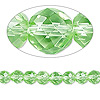 Bead, Celestial Crystal®, glass, 48-facet, lime green, 6mm faceted round. Sold per 16-inch strand.