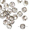 Bead, German crystal, clear with satin finish, 8mm faceted round. Sold per pkg of 12.