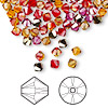 Bead, Swarovski crystal, Crystal Passions®, Blaze, 4mm Xilion bicone (5328). Sold per pkg of 144 (1 gross).