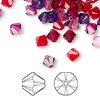 Bead, Swarovski crystal, Crystal Passions®, Passion, 6mm Xilion bicone (5328). Sold per pkg of 24.