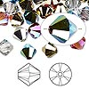 Bead, Swarovski crystal, Crystal Passions®, Rock Star, 8mm Xilion bicone (5328). Sold per pkg of 144 (1 gross).