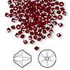 Bead, Swarovski crystal, Crystal Passions®, Siam, 3mm Xilion bicone (5328). Sold per pkg of 144 (1 gross).