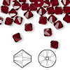 Bead, Swarovski crystal, Crystal Passions®, Siam, 6mm Xilion bicone (5328). Sold per pkg of 144 (1 gross).