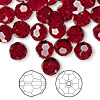Bead, Swarovski crystal, Crystal Passions®, Siam, 8mm faceted round (5000). Sold per pkg of 144 (1 gross).