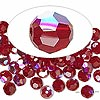 Bead, Swarovski crystal, Crystal Passions®, Siam AB, 6mm faceted round (5000). Sold per pkg of 144 (1 gross).