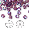 Bead, Swarovski crystal, Crystal Passions®, amethyst AB, 6mm faceted round (5000). Sold per pkg of 144 (1 gross).