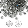 Bead, Swarovski crystal, Crystal Passions®, black diamond, 4mm Xilion bicone (5328). Sold per pkg of 144 (1 gross).
