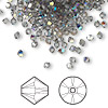 Bead, Swarovski crystal, Crystal Passions®, black diamond AB, 3mm Xilion bicone (5328). Sold per pkg of 48.