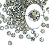 Bead, Swarovski crystal, Crystal Passions®, black diamond AB, 4mm faceted round (5000). Sold per pkg of 144 (1 gross).