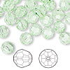 Bead, Swarovski crystal, Crystal Passions®, chrysolite, 8mm faceted round (5000). Sold per pkg of 144 (1 gross).