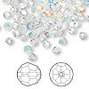 Bead, Swarovski crystal, Crystal Passions®, crystal AB, 2mm faceted round (5000). Sold per pkg of 12.
