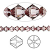 Bead, Swarovski crystal, Crystal Passions®, crystal antique pink, 5mm Xilion bicone (5328). Sold per pkg of 24.