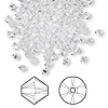 Bead, Swarovski crystal, Crystal Passions®, crystal clear, 3mm Xilion bicone (5328). Sold per pkg of 144 (1 gross).