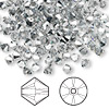 Bead, Swarovski crystal, Crystal Passions®, crystal comet argent light, 4mm Xilion bicone (5328). Sold per pkg of 144 (1 gross).