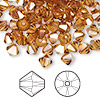 Bead, Swarovski crystal, Crystal Passions®, crystal copper, 6mm Xilion bicone (5328). Sold per pkg of 24.