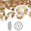Bead, Swarovski crystal, Crystal Passions®, crystal golden shadow, 10x3.5mm faceted marguerite lochrose flower (3700). Sold per pkg of 144 (1 gross).