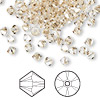 Bead, Swarovski crystal, Crystal Passions®, crystal golden shadow, 4mm Xilion bicone (5328). Sold per pkg of 144 (1 gross).