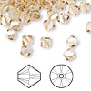 Bead, Swarovski crystal, Crystal Passions®, crystal golden shadow, 6mm Xilion bicone (5328). Sold per pkg of 144 (1 gross).