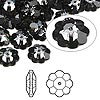 Bead, Swarovski crystal, Crystal Passions®, crystal silver night, foil back, 10x3.5mm faceted marguerite lochrose flower (3700). Sold per pkg of 12.