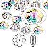 Bead, Swarovski crystal, Crystal Passions®, crystal transmission V, 8x3mm faceted marguerite lochrose flower (3700). Sold per pkg of 12.