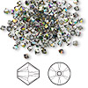 Bead, Swarovski crystal, Crystal Passions®, crystal vitrail medium, 3mm Xilion bicone (5328). Sold per pkg of 144 (1 gross).