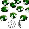 Bead, Swarovski crystal, Crystal Passions®, dark moss green, 12x4mm faceted marguerite lochrose flower (3700). Sold per pkg of 12.