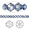Bead, Swarovski crystal, Crystal Passions®, denim blue, 4mm Xilion bicone (5328). Sold per pkg of 48.
