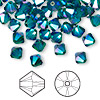Bead, Swarovski crystal, Crystal Passions®, emerald AB2X, 6mm Xilion bicone (5328). Sold per pkg of 144 (1 gross).