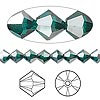 Bead, Swarovski crystal, Crystal Passions®, emerald satin, 6mm Xilion bicone (5328). Sold per pkg of 24.