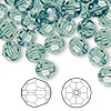 Bead, Swarovski crystal, Crystal Passions®, erinite, 8mm faceted round (5000). Sold per pkg of 144 (1 gross).