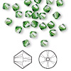 Bead, Swarovski crystal, Crystal Passions®, fern green, 5mm Xilion bicone (5328). Sold per pkg of 144 (1 gross).