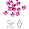 Bead, Swarovski crystal, Crystal Passions®, fuchsia, 6x5mm faceted butterfly (5754). Sold per pkg of 12.