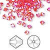 Bead, Swarovski crystal, Crystal Passions®, hyacinth AB2X, 4mm Xilion bicone (5328). Sold per pkg of 144 (1 gross).