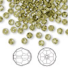 Bead, Swarovski crystal, Crystal Passions®, khaki, 4mm faceted round (5000). Sold per pkg of 144 (1 gross).