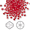 Bead, Swarovski crystal, Crystal Passions®, light Siam, 3mm Xilion bicone (5328). Sold per pkg of 48.