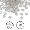 Bead, Swarovski crystal, Crystal Passions®, light grey opal, 4mm Xilion bicone (5328). Sold per pkg of 48.